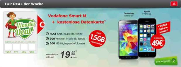 Smart M und MobileInternet Flat 19.99€ mtl