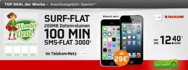 Apple iPhone 5C + Telekom Talk Easy 12.40€ mtl