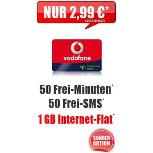 Vodafone Smart Surf + 1 GB Daten 2.99€ mtl