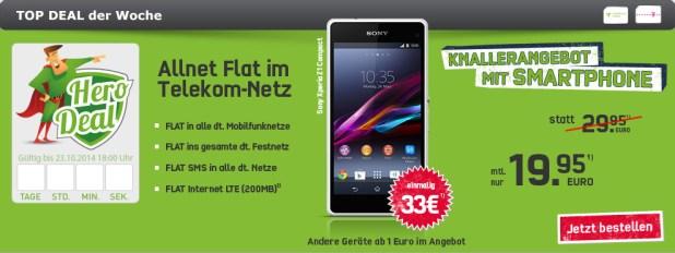 Sony Xperia Z Ultra + Telekom Allnet 19.95€ mtl