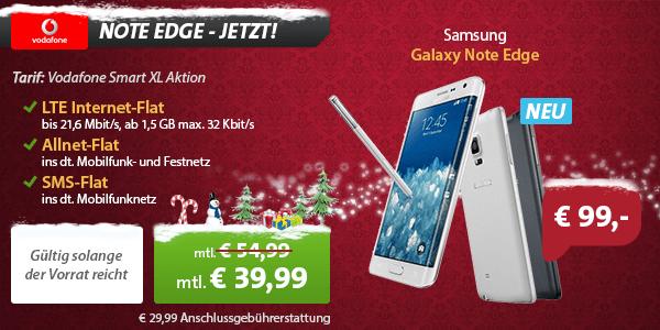 Galaxy Note Edge im Vodafone Smart XL Aktion