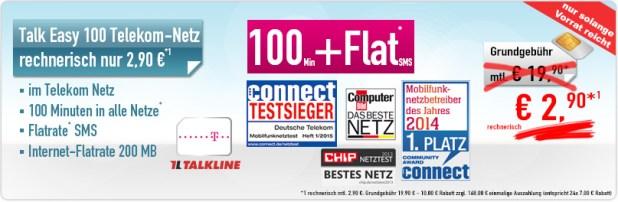Talk Easy 100 Minuten - nur 2.90 € mtl.