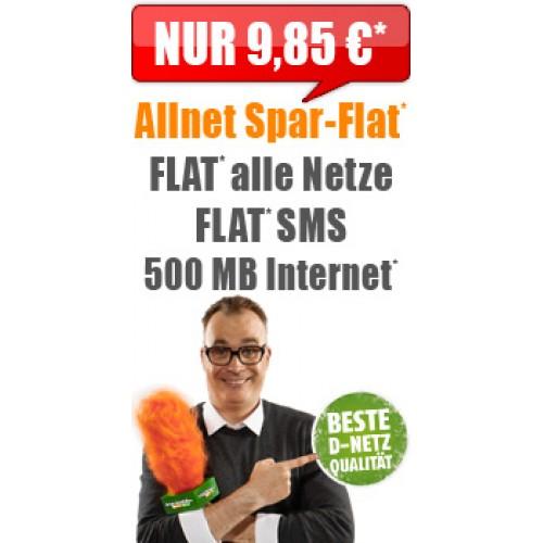 Klarmobil Allnet Spar-Flat 500 MB nur 9.85€ mtl