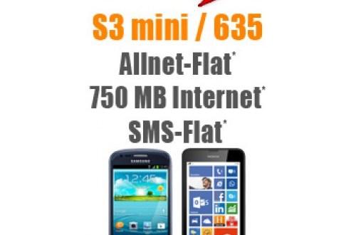 Lumia 635 + Allnet-Flat + SMS + 750 MB 14,85 €