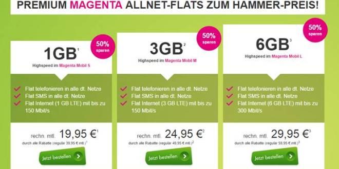 Magenta Mobil L mit 6GB gibt es für 29,95€ mtl.