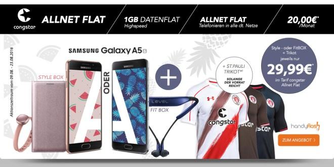 Galaxy A5 (2016) + Telekom Allnet + 1GB + St. Pauli Trikot nur 20€ mtl.