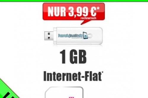 Internet Flat 1000 MB Telekom nur 2,99€ mtl.