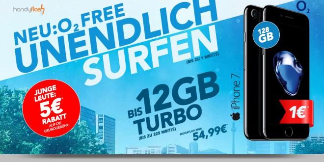 o2 Free XL 8GB LTE+ EU+ Multicard+ iPhone 7 128 GB nur 54,99€ mtl.