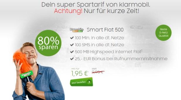 Knaller! 500 MB/100 MIN /100 SMS Vodafone nur 1,95€ mtl.