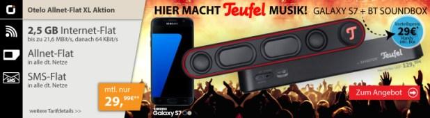 Teufel Bamster Soundbar+ Galaxy S7 nur 29€ im otelo XL 2,5GB