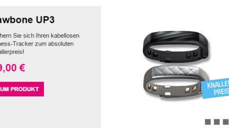 Jawbone UP3 Fitness-Tracker nur 53,90 Euro