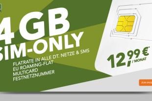 Blue ALL IN L Sim-Only 4GB LTE + EU nur 12,99€ mtl.