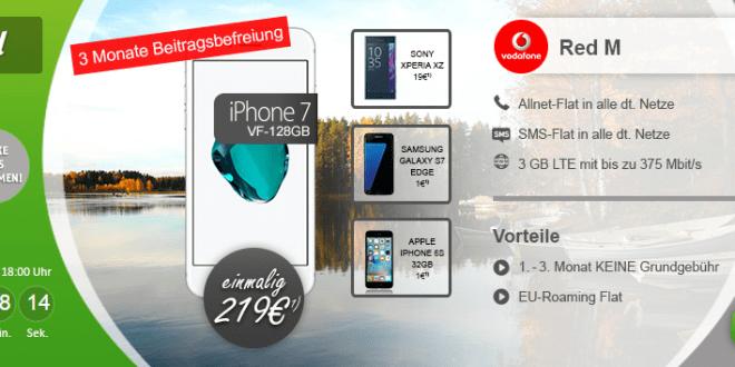 iPhone 7 + 3GB LTE + Allnet + EU-Roaming nur 43,74€ mtl. rech.
