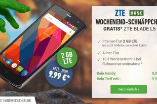 ZTE Blade L5 Smartphone + BASE Light Eco für mtl. 9,99€