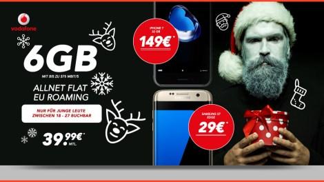 6GB LTE + Allnet Flat + EU Roaming Flat + iPhone 7 nur 39,99€ mtl.