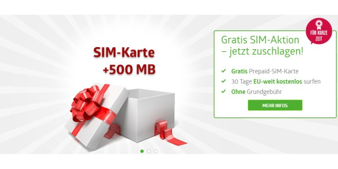 gratis sim karte mit 500 mb internet im d netz. Black Bedroom Furniture Sets. Home Design Ideas