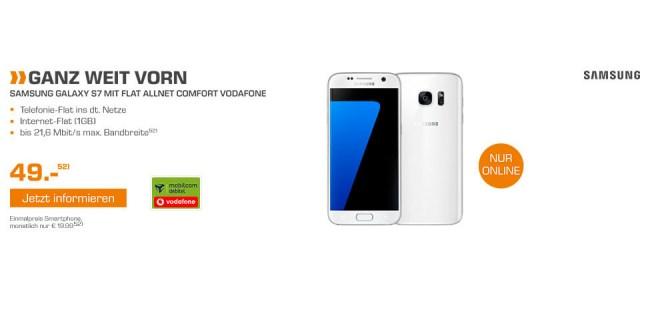 Samsung Galaxy S7 + Allnet Flat + 1GB nur 19,99€ mtl.