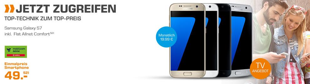 Galaxy S7 + Allnet + 1GB nur 19,99€ mtl.