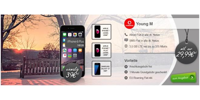 3,5GB LTE Allnet Flat inkl. EU + iPhone 6 Plus nur 29,99€ mtl.