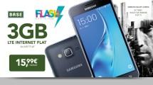 Galaxy J3 (2016) + 3GB LTE + Allnet Flat nur 15,99€ mtl.