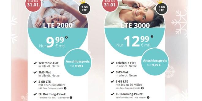 LTE 2000 + Allnet + EU + monatlich kündbar nur 9,99€ mtl.