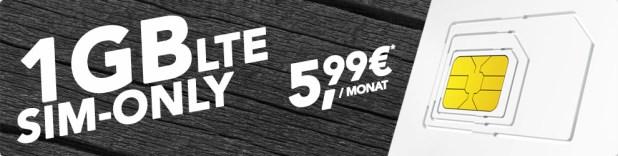o2 Allnet Flat + 1 GB LTE nur 5,99€ mtl.