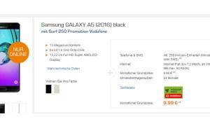 GALAXY A5 + 250 Min + 250 MB nur 9,99€ mtl.