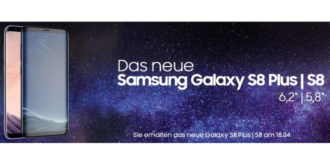 Galaxy S8 + Allnet +2GB LTE im Vodafone Netz nur 39,99€ mtl.