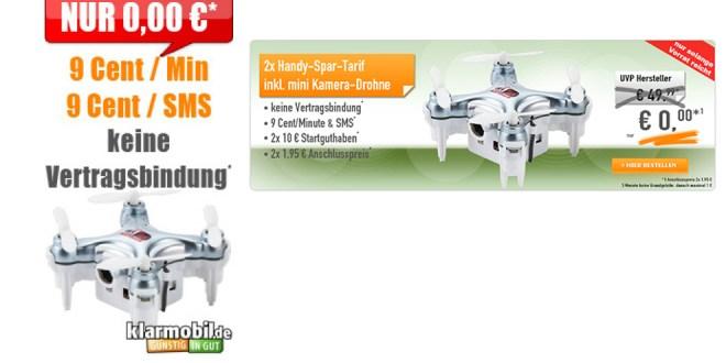 2x Handy-Spar-Tarif + mini Kamera Drohne für nur 3,90€