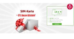 FYVE Prepaid SIM Karte mit 10€ Amazon Gutschein