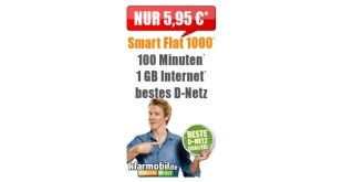 Klarmobil Smartphone Flat 1000 Telekom nur 5,95€ mtl.