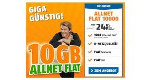 10 GB im Telekom Netz mit Allnet nur 24,85€ mtl.
