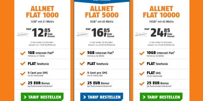 5 GB im Telekom Netz mit Allnet nur 16,85€ mtl.