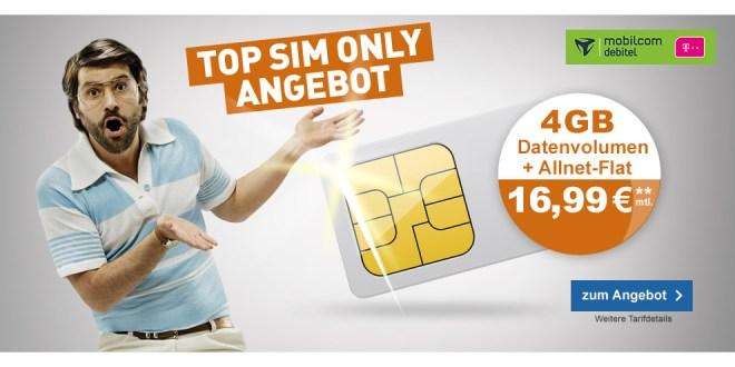 Telekom 4GB mit Allnet nur 16,99€ mtl.