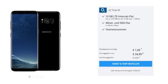 Galaxy S8 mit 10GB LTE und EU nur 34,99€ mtl.