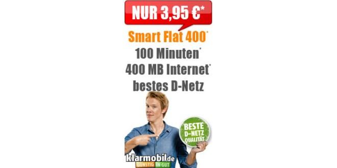100 Min + 400 MB Internet Telekom nur 3,95€ mtl.
