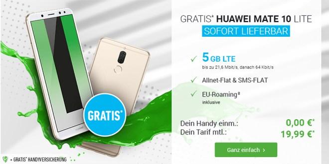 Huawei Mate 10 Lite mit 5 GB LTE nur 19,99€ mtl.