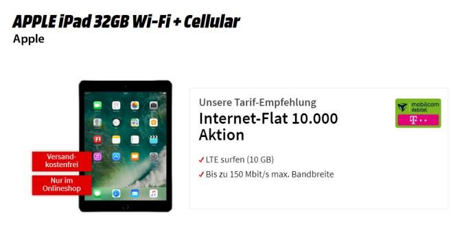 APPLE iPad 32GB mit 10GB LTE Telekom nur 19,99€ mtl.