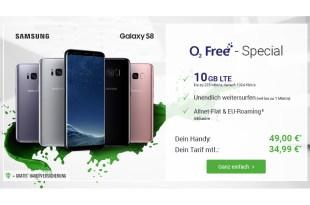 10 GB LTE mit Galaxy S8 nur 34,99€ mtl.