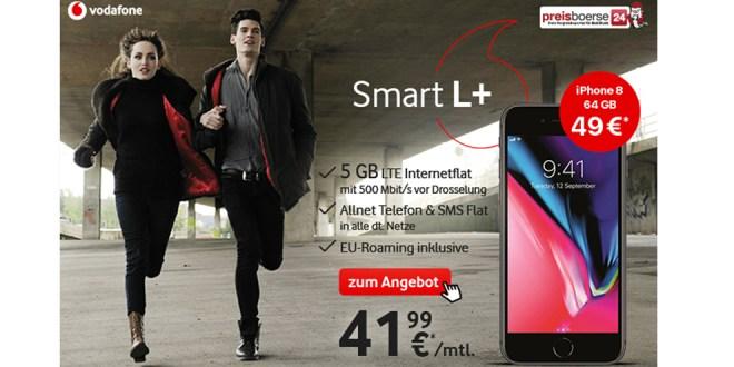 5 GB LTE Allnet mit iPhone 8 nur 41,99€ mtl.