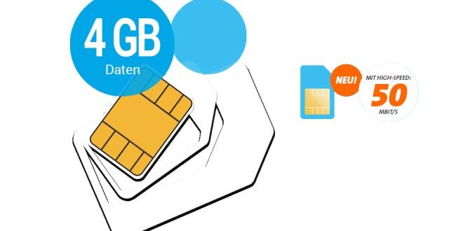 4 GB Allnet im Telekom Netz nur 23,90€ mtl.