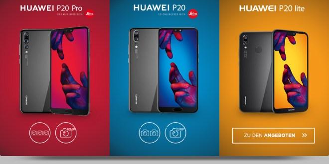 Huawei P20 Pro mit 10 GB LTE nur 39,99€ mtl.