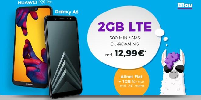 Galaxy A6 mit 3GB LTE nur 14,99€ mtl.