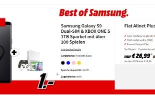 Galaxy S9 & XBOX ONE S 1TB Sparket mit über 100 Spielen