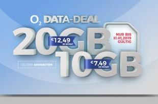 10GB LTE nur 7,49€ oder 20GB LTE nur 12,49€