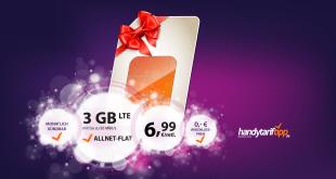 3 GB LTE monatlich kündbar nur 6,99€ mtl.