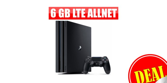 6 GB LTE + PLAYSTATION 4 PRO 29,99€