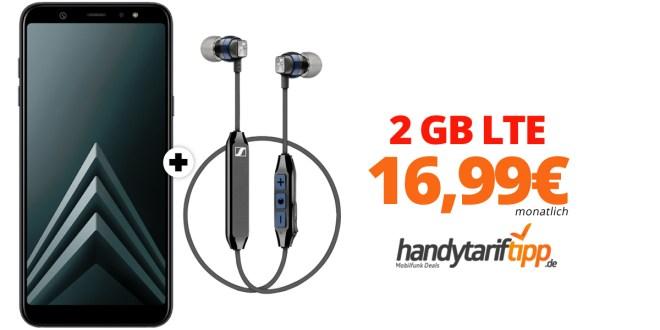 Galaxy A6+ & Sennheiser CX6 mit 2 GB LTE nur 16,99€