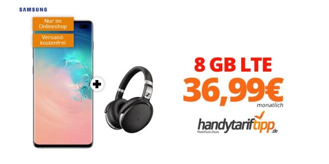 Galaxy S10+ & Sennheiser HD 4.50 mit 8 GB LTE nur 36,99€