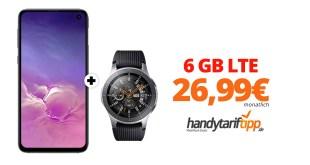 Galaxy S10e & Galaxy Watch mit 6 GB LTE nur 26,99€